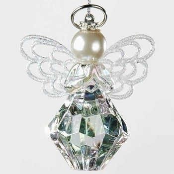 Halo Christmas Ornament.You Are A Gem To Me Angel Ornament With Silver Halo Angel