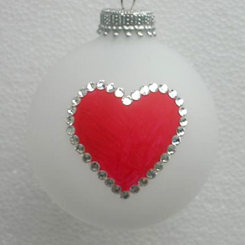 Poker and Bridge Playing Cards Suit of Hearts Ornament