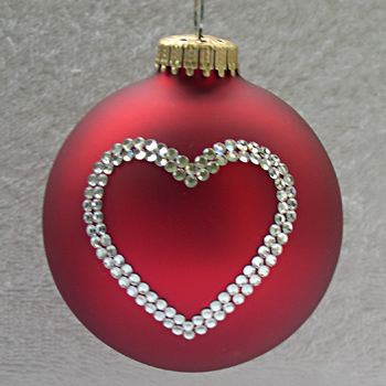 Heart Ornament - Christmas Tree Ornaments Depicting a Heart