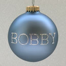 Country Blue Personalized Ornament