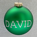 Green Personalized Ornament