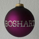 Plum Personalized Ornament