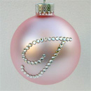 Powder Pink Standard Monogram Ornament