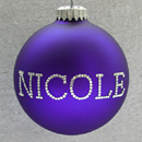 Purple Personalized Ornament