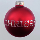 Red Personalized Ornament