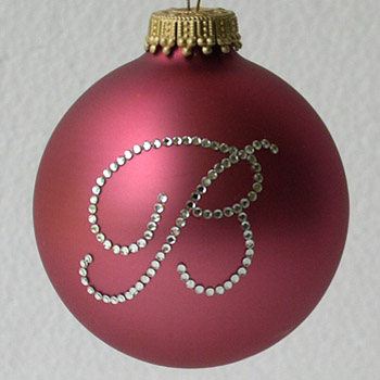 Rose Pink Fine Monogram Ornament - Christmas Tree Ornaments ...
