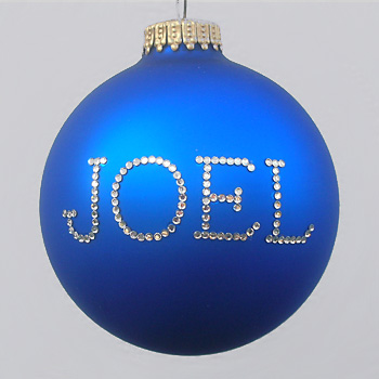 Royal Blue Personalized Ornament