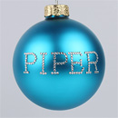 Teal Personalized Ornament