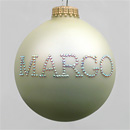 White Pearl Personalized Ornament