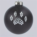Black Paw Print Ornament