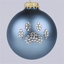 Country Blue Paw Print Ornament