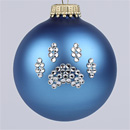 Glacier Blue Paw Print Ornament