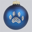 Navy Blue Paw Print Ornament