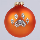 Orange Paw Print Ornament