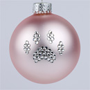 Powder Pink Paw Print Ornament