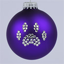 Purple Paw Print Ornament