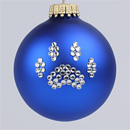 Royal Blue Paw Print Ornament