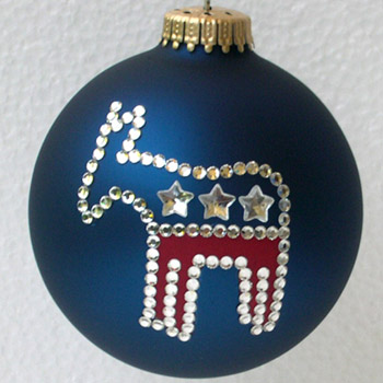 Democratic Party Donkey Ornament
