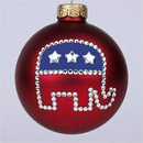 Republican Elephant Ornament