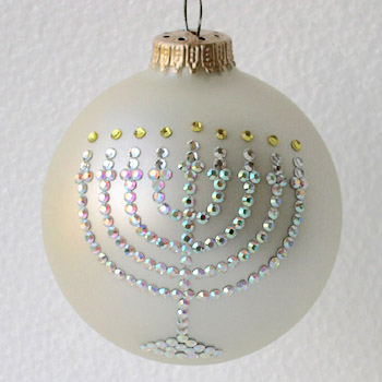 Menorah Ornament - Menorah Christmas Tree Ornaments - Sports Ornaments
