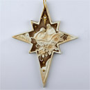 Nativity 8 Pointed Star of Bethlehem Ornament